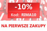 10% na pierwsze zakupy