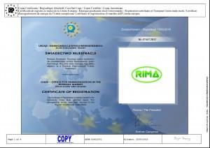 certyfikar rejestracji