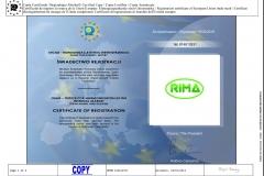 certyfikat rejestracji